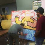 Jasso live painting at the event.